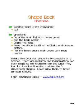 My Shape Book: A Student's Creation