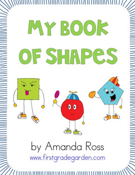 My Shape Book {All About 2D Shapes} - Editable Text