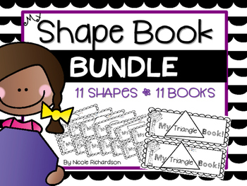 My Shape Book BUNDLE -EASY PREP!