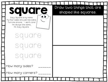 My Shape Book -- Plane 2D Shapes Book -- Circles, Squares, Rectangles, Triangles