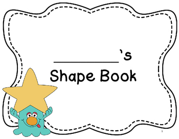 My Shape Book & Shape Monster (Grade 3 Geometry)-No Plan Unit!