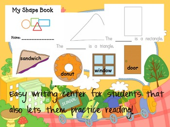 My Shape Book Writing/Emergent Reader