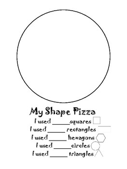 my shape pizza by forever kinder teachers pay teachers. Black Bedroom Furniture Sets. Home Design Ideas