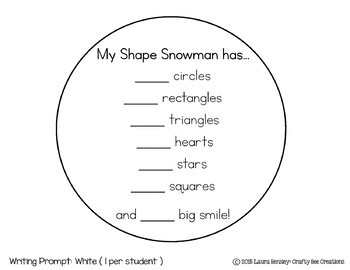 My Shape Snowman Craftivity