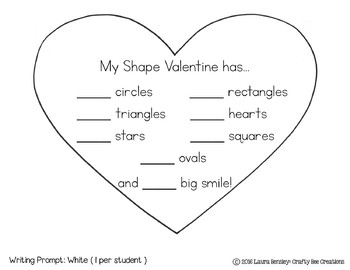 Valentines Day Craft {My Shape Valentine}