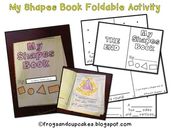 My Shapes Book Foldable Activity