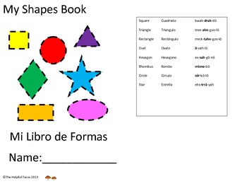 My Shapes Book, Mi Libro de Formas