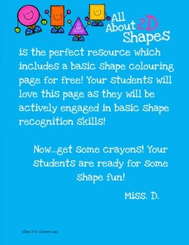 All About 2D Shapes! FREEBIE