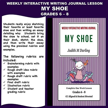 Interactive Weekly Writing Notebook Lesson -My Shoe - CC Aligned