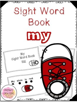 My - Shoe Sight Word Book