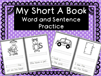 My Short A Book- CVC WORD PRACTICE WITH SENTENCES-free for limited time!