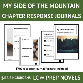 My Side of The Mountain Chapter Question Journal