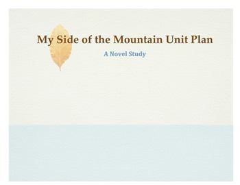 My Side of The Mountain Unit Plan