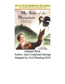 My Side of the Mountain - Adapted Book picture supported text questions PDF
