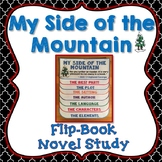 My Side of the Mountain Novel Study, Flip Book Project, Writing Prompts