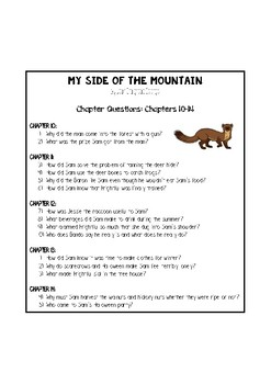 My Side of the Mountain - Chapter Questions
