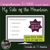 My Side of the Mountain Comprehension Quick Checks- distan