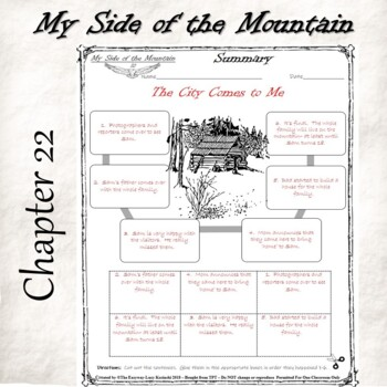 My Side of the Mountain-Novel Chapter Summary -Cut & Paste -Chronological Order