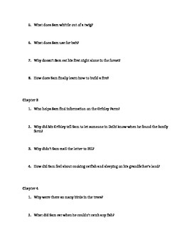 My Side of the Mountain Study Guide