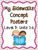 My Sidewalks Concept Posters Level D