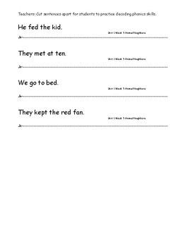 My Sidewalks Level A Unit 1 Week 5 Fluency Sentences