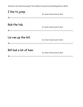 My Sidewalks Level A  Unit 1 Week 6 Fluency Sentences