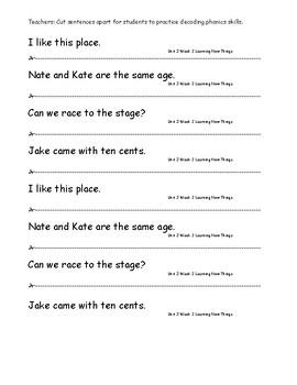 My Sidewalks Level A  Unit 3 Week 2 Fluency Sentences