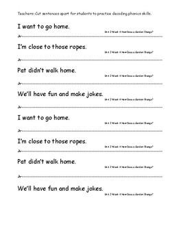 My Sidewalks Level A  Unit 3 Week 4 Fluency Sentences