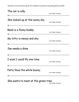 My Sidewalks Level A  Unit 4 Week 1 Fluency Sentences
