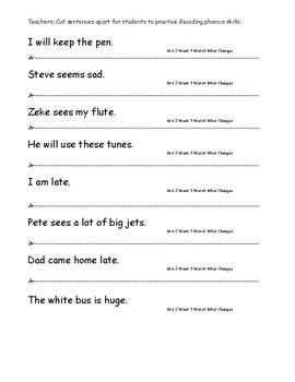 My Sidewalks Level A  Unit 3 Week 5 Fluency Sentences
