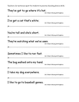 My Sidewalks Level A  Unit 4 Week 6 Fluency Sentences