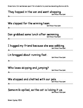 My Sidewalks Level B Unit 2 Week 2 Fluency Sentences
