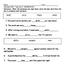 My Sidewalks Level B Unit 2 Week 2 Vocabulary Test