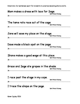 My Sidewalks Level B Unit 2 Week 3 Fluency Sentences