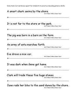 My Sidewalks Level B Unit 3 Week 3 Fluency Sentences