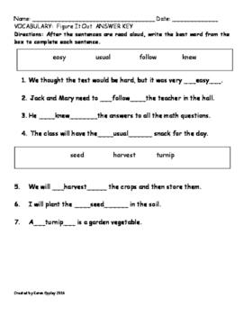 My Sidewalks Level B Unit 3 Week 4 Vocabulary Test