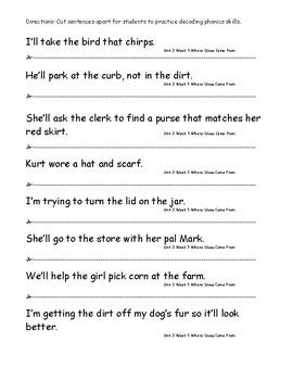 My Sidewalks Level B Unit 3 Week 5 Fluency Sentences