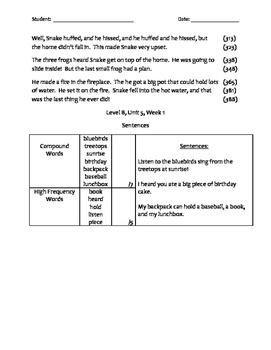My Sidewalks Level B Unit 5 Assessments