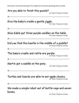 My Sidewalks Level B Unit 5 Week 2 Fluency Sentences