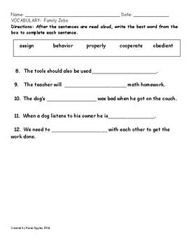 My Sidewalks Level B Unit 5 Week 3 Vocabulary Test