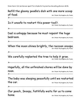 My Sidewalks Level B Unit 5 Week 4 Fluency Sentences