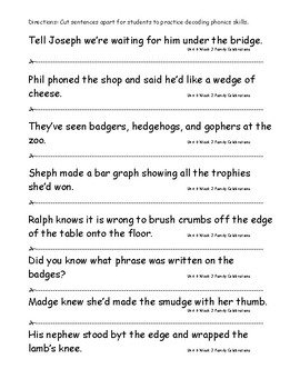 My Sidewalks Level B Unit 6 Week 3 Fluency Sentences