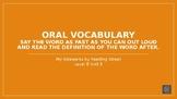 My Sidewalks Level B: Unit Five Oral Vocabulary PowerPoint