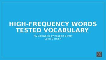 My Sidewalks Level B: Unit Four High Frequency Vocabulary PowerPoint