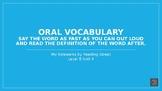 My Sidewalks Level B: Unit Four Oral Vocabulary PowerPoint