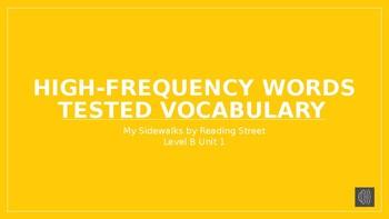 My Sidewalks Level B: Unit One High Frequency Vocabulary PowerPoint