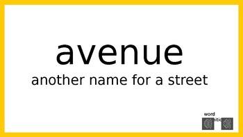 My Sidewalks Level B: Unit One Oral Vocabulary PowerPoint