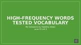 My Sidewalks Level B: Unit Three High Frequency Vocabulary