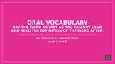 My Sidewalks Level B: Unit Two Oral Vocabulary PowerPoint