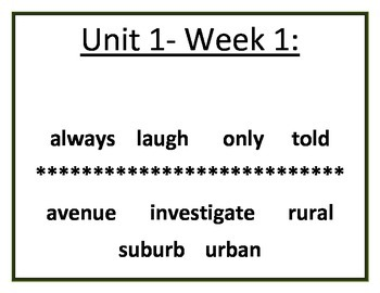 My Sidewalks Vocabulary - Grade 2